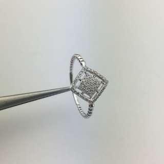 18K白金 16份鑽石 戒指 18K White Gold 16ct Diamond Ring 可議價