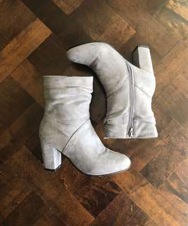 Urban Planet Suede Heel Boots Size 7