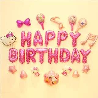 🚚 (In Stock)Hello Kitty Theme Party Decoration Set-Happy Birthday