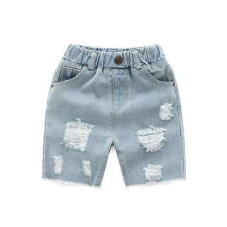 Kids Boy Denim / Jeans Short Pants Ripped Jeans