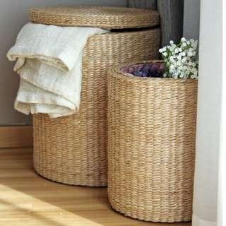 Round Basket Handwoven