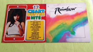 RAINBOW . the soft sounds of today's rock ● 12 CHART BUSTER HITS VOL. 11  Air Supply ● Dirt Band ● Crystal Gayle ● Dionne Warwick ● Smokey Robinson ● Peaches & Herb ● Billy Preston ● Commodores ● Melissa Manchester. etc.. buy 1 get 1 free  vinyl record