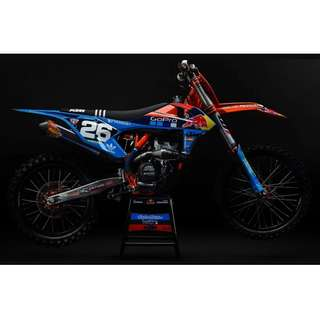 KTM LIMITED EDITION FULL PLASTIC KIT TLD TROY LEE STEVE MCQUEEN GO PRO EXCF SXF EXC XC XCF ACERBIS