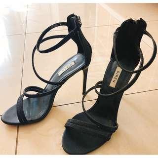 Black Sparkles Heels (size 7)