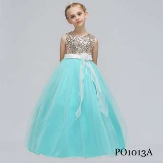 PO1013_ Wedding Party Ball Gown Flower Girl Dress Pageant (8yrs/ 140cm above)