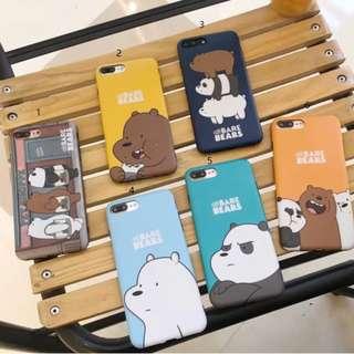 手機殼iphone6/6p/7/7&8plus/X: WEBAREBEARS可愛裸熊蘋果手機殼