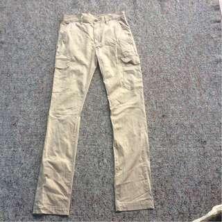 GU JEANS CARO CHINO LONG PANTS CREAM STRETCH