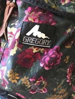 Gregory daypack 26 L 絕版舊logo 綠花袋
