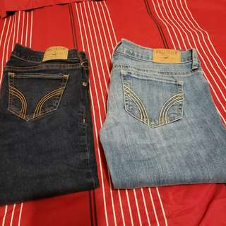 Hollister Jean's. (W:24, L:33) two pairs for $20