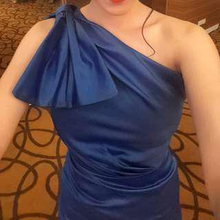 Royal blue elegant gown rental