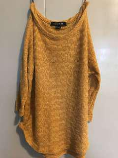Forever 21 Knitted 3/4 Top