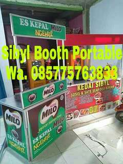 Meja stand lipat booth portable