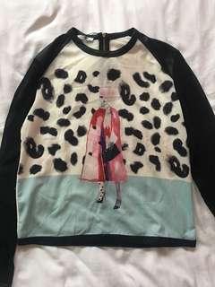 Zara W&B Collection Blouse