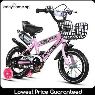 Kids Children Bicycle (12 , 14, 16 ,18 inch) - Removable Training 4 Wheels