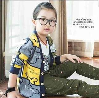 KIDS CARDIGAN ●5-10 yrs old ● knitted fabric ● perfect for this school and rainy season  Price : 390
