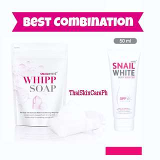 Snail white whipp soap & Snail booster (Set) Save 30 php!