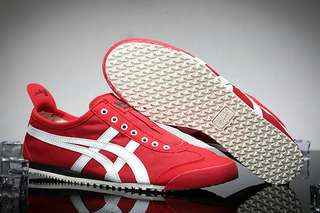 Authentic Onitsuka Tiger Slip On Red/White