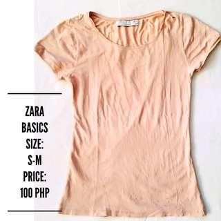 Zara basic nude shirt
