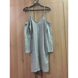 H&M Gray Bodycon dress BNWOT