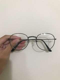 🚚 鐵灰色無度數眼鏡