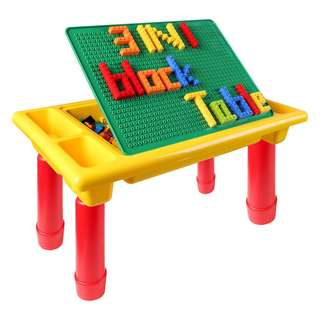 3-IN-1 TABLE WITH STORAGE INCLUDES 200 PCS BUILDING BRICKS