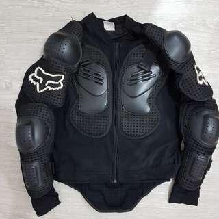 FOX 專業龜甲護甲 越野/重機防摔衣/-XL號(夏天穿著透氣)