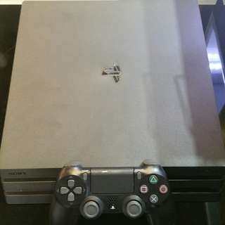 PS4 Pro with controller and full set