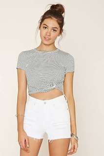 Forever 21 side knot cropped top