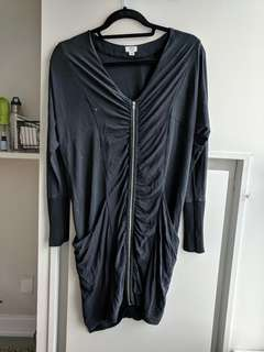 Wilfred zip tunic dress