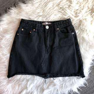 Just Like Smoke denim skirt (black)