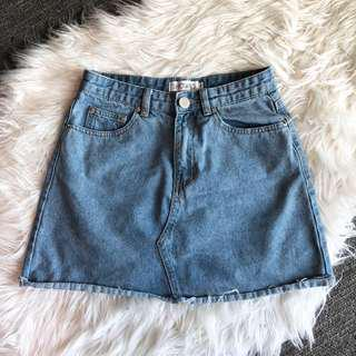 Just Like Smoke denim skirt (mid wash)