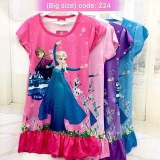 Buy 3 @ RM33 ❤Bargain Sale❤ Frozen Jersey dress J224~ Small Version