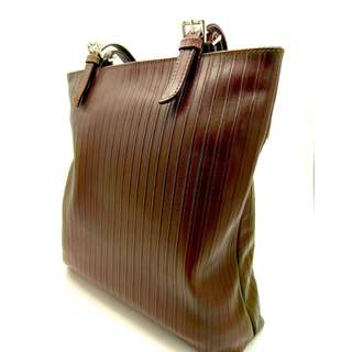 Brand New F3 Sydney Office PinStripe Brown Tote