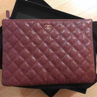 Chanel Camelia O Case GHW-Burgundy