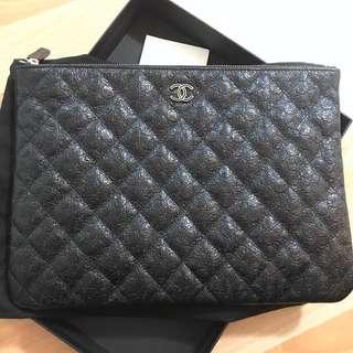 Chanel Camelia O Case GHW-Black