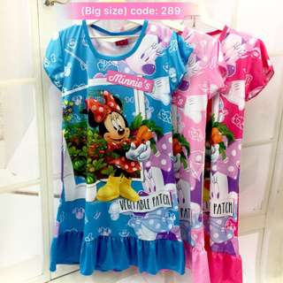 Buy 3 @ RM33 ❤Bargain Sale❤ Minnie Mouse Jersey Dress J289