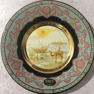 Chokin Vintage Plate 24k Gold