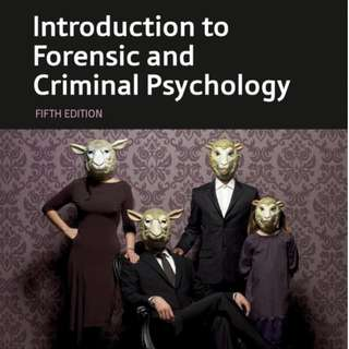 Introduction to Forensic and Criminal Psychology  5th ED Dennis Howitt