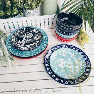 Bohemian Night Dining Plates Bowls Tableware Dinnerware Collection (PLS READ INFO)