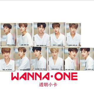 Wanna One 出道相透明小卡