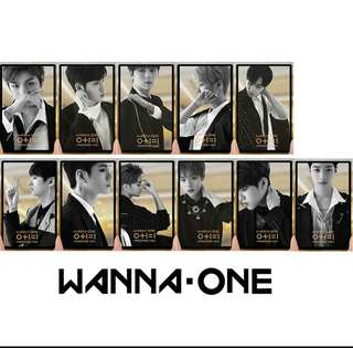 Wanna One I Promise You透明小卡