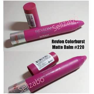 Used Pink Revlon Colorburst Matte Balm #220 Showy Makeup Sellzabo Lips Cosmetics Colour