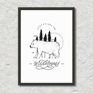 Let's Explore The Wilderness - Illustration/ Calligraphy Print