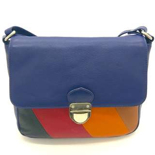 HydeStyle London Blue and Striped Cross-body Handbag: