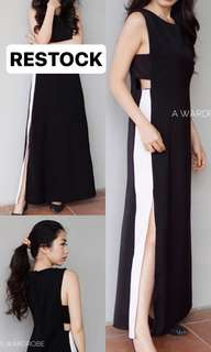 Long slit dress