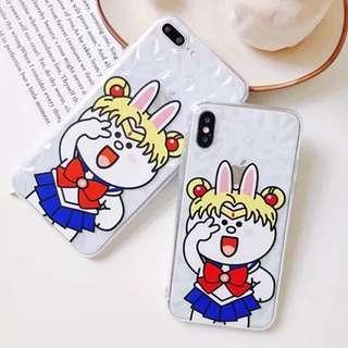 (預訂)美少女裝cony兔iphone手機殻