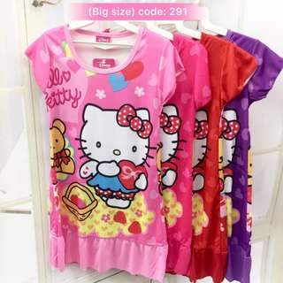 Buy 3 @ RM33 ❤Bargain Sale❤ Hello Kitty Jersey Dress J291~ Small Version