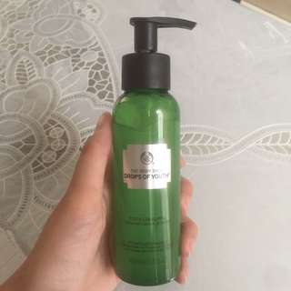 body shop exfoliating gel drop of youth