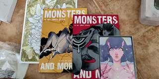 🚚 Monsters and More 1 + 2 comic book doujin