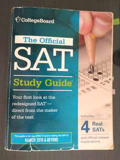 SAT official guide + 4 Practice papers